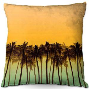 Throw Pillows Decorative Artistic | Julia Di Sano - Beach Palms Tangerine | Beach Ocean Trees Nature