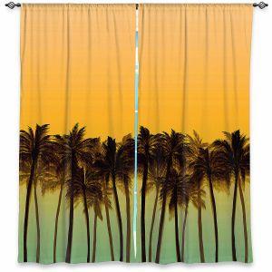 Decorative Window Treatments | Julia Di Sano - Beach Palms Tangerine | Beach Ocean Trees Nature