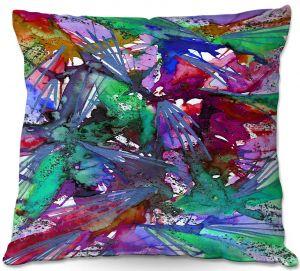 Decorative Outdoor Patio Pillow Cushion | Julia Di Sano - Birds Of Prey Rainbow B