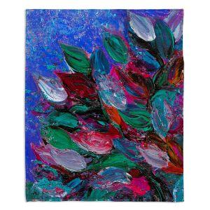 Decorative Fleece Throw Blankets | Julia Di Sano - Blooming Beautiful III