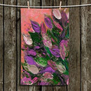 Unique Hanging Tea Towels | Julia Di Sano - Blooming Beautiful VI | Abstract