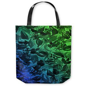 Unique Shoulder Bag Tote Bags   Julia Di Sano - Blossoms Unchained Blue Green