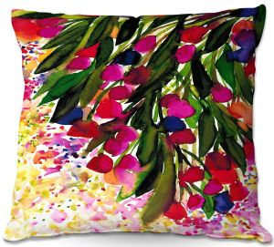 Unique Outdoor Pillow 16X16 from DiaNoche Designs by Julia Di Sano - Botanical Regency I Rainbow