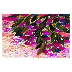 Decorative Floor Coverings | Julia Di Sano - Botanical Regency II Fuchsia Green