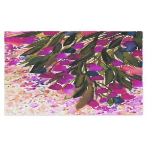 Artistic Pashmina Scarf | Julia Di Sano - Botanical Regency II Fuchsia Green | Flowers Colorful Unique