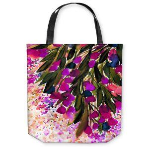Unique Shoulder Bag Tote Bags | Julia Di Sano - Botanical Regency II Fuchsia Green