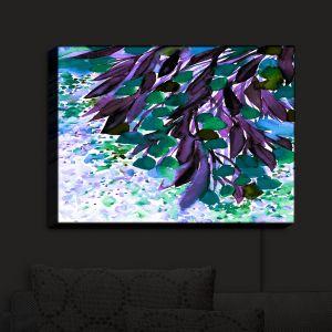 Nightlight Sconce Canvas Light | Julia Di Sano - Botanical Regency IV Teal Purple | Flowers Colorful Unique