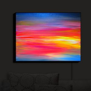 Nightlight Sconce Canvas Light | Julia Di Sano - Bright Horizons | Abstract Sunset Colorful Bright