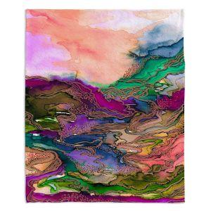 Decorative Fleece Throw Blankets | Julia Di Sano - Bring On Bohemia I Peach