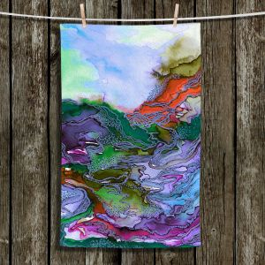 Unique Hanging Tea Towels | Julia Di Sano - Bring On Bohemia III Blue | Abstract Colorful Boho