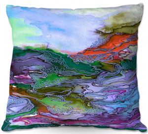 Decorative Outdoor Patio Pillow Cushion | Julia Di Sano - Bring On Bohemia III Blue
