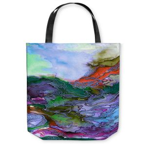 Unique Shoulder Bag Tote Bags | Julia Di Sano - Bring On Bohemia III Blue