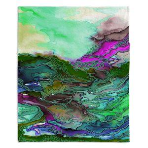 Artistic Sherpa Pile Blankets | Julia Di Sano - Bring On Bohemia VI Mint Green