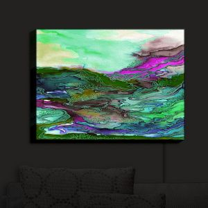 Nightlight Sconce Canvas Light | Julia Di Sano - Bring On Bohemia VI Mint Green | Abstract Colorful Boho