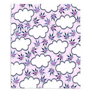 Artistic Sherpa Pile Blankets | Julia Di Sano - Cannabis Clouds 1 | Marijuana Pot Smoking