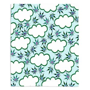 Artistic Sherpa Pile Blankets | Julia Di Sano - Cannabis Clouds 4 | Marijuana Pot Smoking