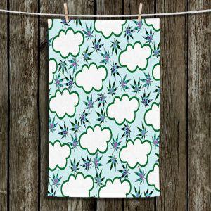 Unique Hanging Tea Towels | Julia Di Sano - Cannabis Clouds 4 | Marijuana Pot Smoking