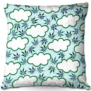 Throw Pillows Decorative Artistic | Julia Di Sano - Cannabis Clouds 4 | Marijuana Pot Smoking