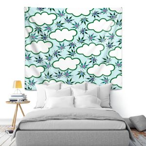 Artistic Wall Tapestry | Julia Di Sano - Cannabis Clouds 4 | Marijuana Pot Smoking