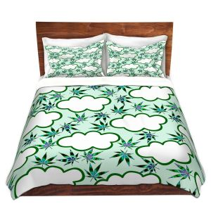 Artistic Duvet Covers and Shams Bedding | Julia Di Sano - Cannabis Clouds 5 | Marijuana Pot Smoking
