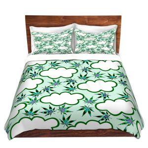 Artistic Duvet Covers and Shams Bedding | Julia Di Sano - Cannabis Clouds 5 | Marijuana Pot Smoking
