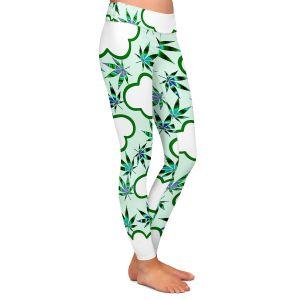 Casual Comfortable Leggings | Julia Di Sano - Cannabis Clouds 5 | Marijuana Pot Smoking