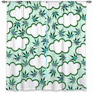 Decorative Window Treatments | Julia Di Sano - Cannabis Clouds 5 | Marijuana Pot Smoking