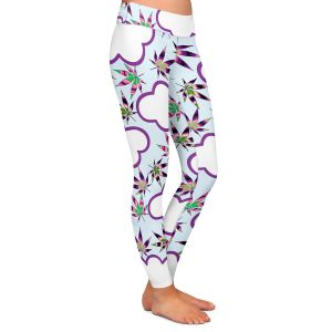 Casual Comfortable Leggings | Julia Di Sano - Cannabis Clouds 7 | Marijuana Pot Smoking