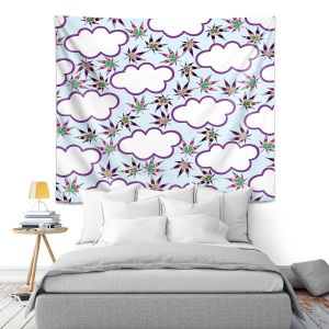 Artistic Wall Tapestry | Julia Di Sano - Cannabis Clouds 7 | Marijuana Pot Smoking