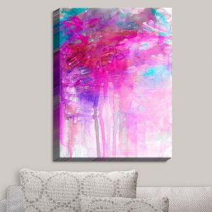 Decorative Canvas Wall Art   Julia Di Sano - Carnival Dreams Pink Purple   Abstract Painting