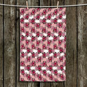 Unique Bathroom Towels | Julia Di Sano - Chevron Roses 1 | nature pattern flower