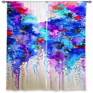 Unique Window Curtain Lined 40w x 61h from DiaNoche Designs by Julia Di Sano - Cloudy Day II