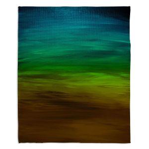 Decorative Fleece Throw Blankets | Julia Di Sano - Coastal Sunset 1 | abstract landscape