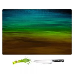 Artistic Kitchen Bar Cutting Boards | Julia Di Sano - Coastal Sunset 1 | abstract landscape