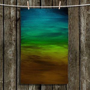 Unique Hanging Tea Towels | Julia Di Sano - Coastal Sunset 1 | abstract landscape