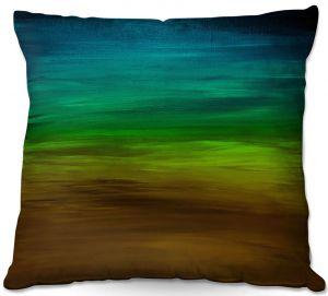 Decorative Outdoor Patio Pillow Cushion | Julia Di Sano - Coastal Sunset 1 | abstract landscape