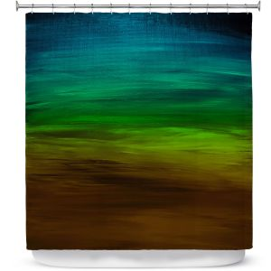 Premium Shower Curtains | Julia Di Sano - Coastal Sunset 1 | abstract landscape