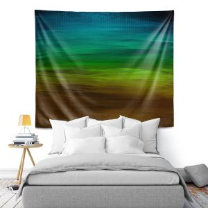 Artistic Wall Tapestry | Julia Di Sano - Coastal Sunset 1 | abstract landscape