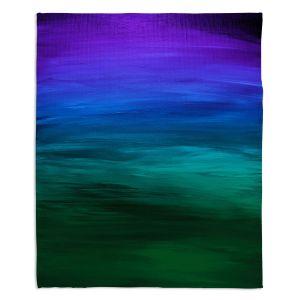 Decorative Fleece Throw Blankets | Julia Di Sano - Coastal Sunset 2 | abstract landscape