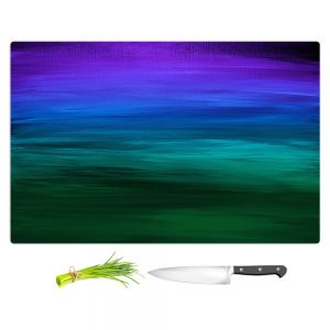 Artistic Kitchen Bar Cutting Boards | Julia Di Sano - Coastal Sunset 2 | abstract landscape