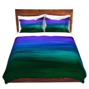 Artistic Duvet Covers and Shams Bedding | Julia Di Sano - Coastal Sunset 2 | abstract landscape