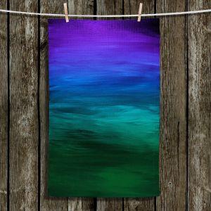 Unique Hanging Tea Towels | Julia Di Sano - Coastal Sunset 2 | abstract landscape