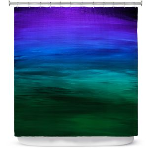 Premium Shower Curtains | Julia Di Sano - Coastal Sunset 2 | abstract landscape