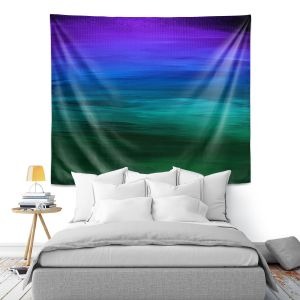 Artistic Wall Tapestry | Julia Di Sano - Coastal Sunset 2 | abstract landscape