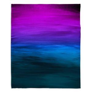 Decorative Fleece Throw Blankets | Julia Di Sano - Coastal Sunset 3 | abstract landscape