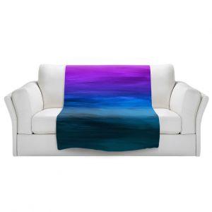 Artistic Sherpa Pile Blankets   Julia Di Sano - Coastal Sunset 3   abstract landscape