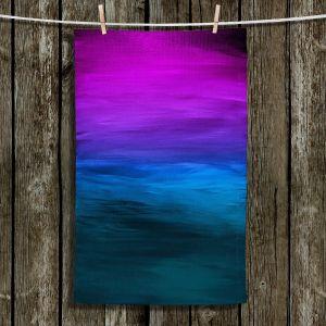 Unique Hanging Tea Towels | Julia Di Sano - Coastal Sunset 3 | abstract landscape