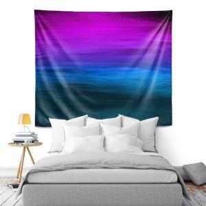 Artistic Wall Tapestry | Julia Di Sano - Coastal Sunset 3 | abstract landscape