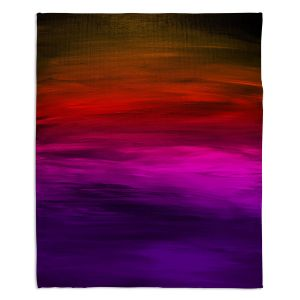 Artistic Sherpa Pile Blankets | Julia Di Sano - Coastal Sunset 4 | abstract landscape
