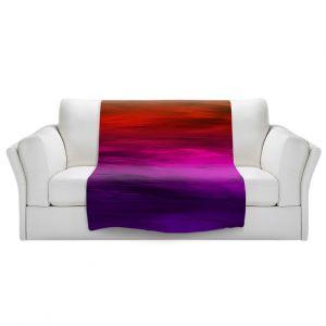 Artistic Sherpa Pile Blankets   Julia Di Sano - Coastal Sunset 4   abstract landscape